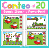 Conteo al 20 | Counting to 20 in Spanish for Google Classr