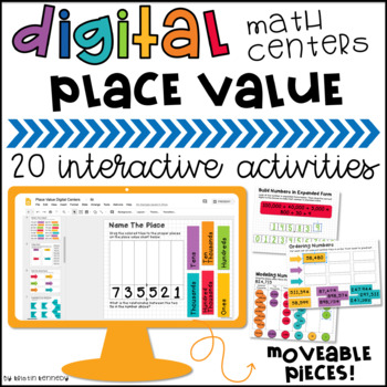 Google Classroom™ Math Activities for Place Value: Digital Math Centers