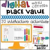 Digital Place Value Centers: 12 Google Classroom™ Activities
