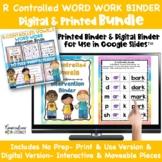 Digital & Print R Controlled Vowels Phonics Word Work Inte