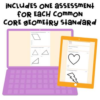 Digital, Self-grading Math Assessments for 4th Grade CCSS {Geometry Domain}