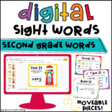 Digital Sight Word Practice: Second Grade