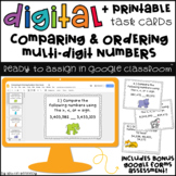Digital Task Cards for Google Classroom™: Comparing & Ordering Numbers