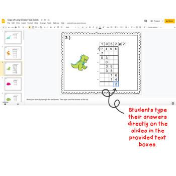 Digital Task Cards for Google Classroom™: Long Division