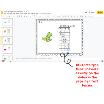 Digital Task Cards for Google Classroom™: Long Division