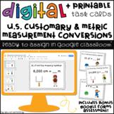 Digital Task Cards for Google Classroom™: Measurement Conversions