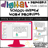 Google Classroom™ Math Task Cards: Word Problems