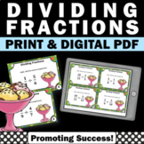 Dividing Fractions Task Cards, 5th Grade Fraction Review