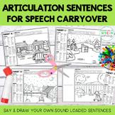 Articulation Sentences & Stories for Speech Carryover