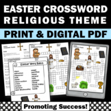 Easter Crossword Puzzle, Religious Easter Activity, Christian Education