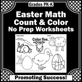 Easter Math Kindergarten Worksheets Counting & Coloring Pages Special Education
