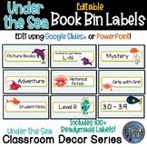 Editable Book Bin Labels - Under the Sea - Ocean - Classroom Decor