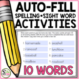 Spelling Activities For Any List of Words (Editable for 10 Words)