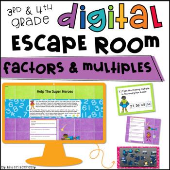 Digital Escape Room: Factors & Multiples
