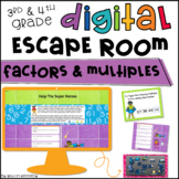 Digital Escape Room: Factors & Multiples Distance Learning