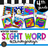 Fourth Grade Sight Word Color by Code Winter Activities