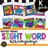 Kindergarten Sight Word Color by Code Winter Activities