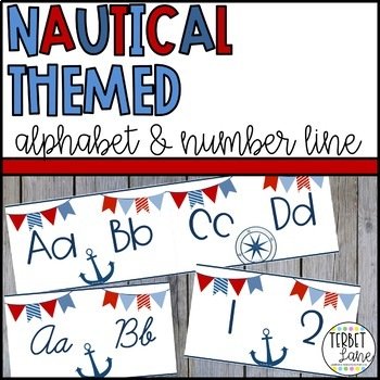 Nautical Themed Alphabet Line Posters