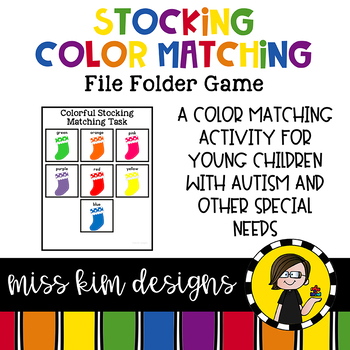 Colorful Stocking Matching Folder Game for Early Childhood Special Education