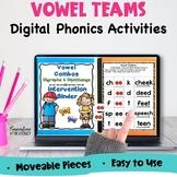 Digital Vowel Teams Phonics Word Work Fluency Intervention