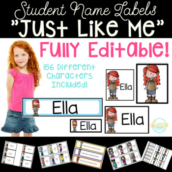 Student Name Labels - Editable Character Labels That Look Like Students