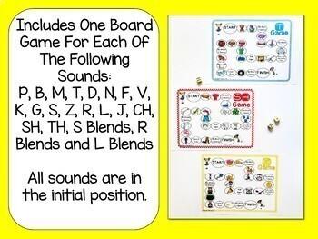No Prep Articulation & Language Board Game Bundle