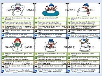 Snowmen At Night Book Companion: Speech and Language Activities