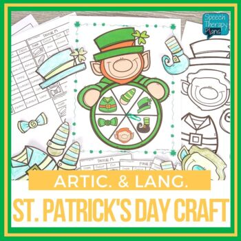 St. Patrick's Day Articulation & Language Craftivity