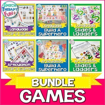 Speech Therapy Game Bundle