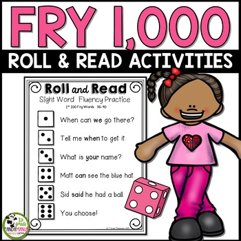 Fry Sight Word Roll and Read Center 1,000 Fry Words