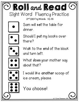 Fry Sight Word Roll and Read Center 300 Fry Words