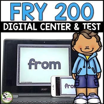 Fry Sight Word Test and Digital Centers For 200 Fry Words