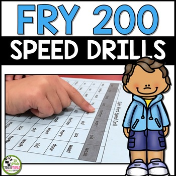 Fry Sight Words Speed Drills for First 200 Fry Words