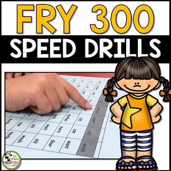 Fry Sight Words Speed Drills for First 300 Fry Words