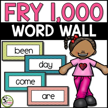 Fry Word Wall Pack for 1,000 Fry Sight Words
