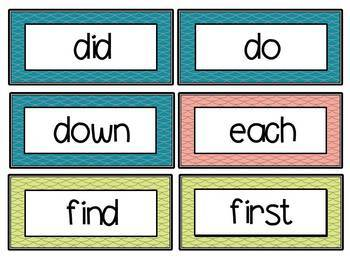 Fry Word Wall Pack for 1st 200 Fry Sight Words