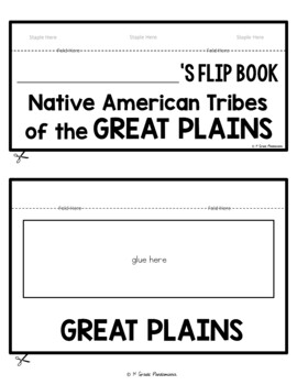 Native Americans Great Plains Tribes FLIP Book
