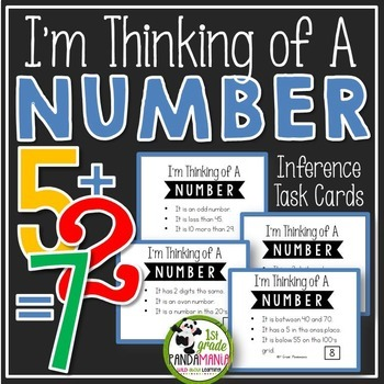 Inference Task Cards~I'm Thinking of a Number