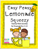 Lemonade Math Pack for Preschool, Pre-K, and Kindergarten