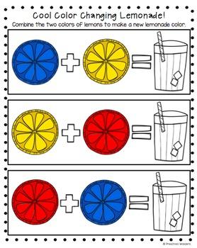 Lemonade Math Pack for Preschool, Pre-K, and Kindergarten