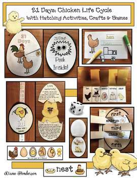 50% Off! Life Cycle Of A Chicken: With Crafts, Games & Hat