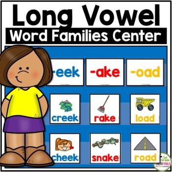 Long Vowel Word Family Pocket Chart Center Activity