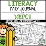 March Preschool Language Arts Journal - NO PREP