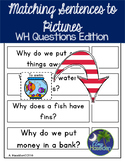 Speech Therapy WH- Questions Matching Questions to Pictures Interactive