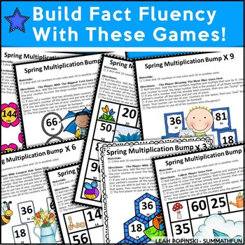 Multiplication Games - Bump Games - Differentiated Practice