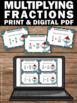 Multiplying Fractions Task Cards, Fraction Games, 5th Grade Math Review