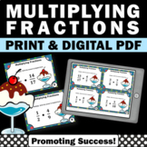 Multiplying Fractions Task Cards, 5th Grade Math Review, Fraction Activities