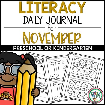 November Language Arts Journal  NO PREP - Preschool