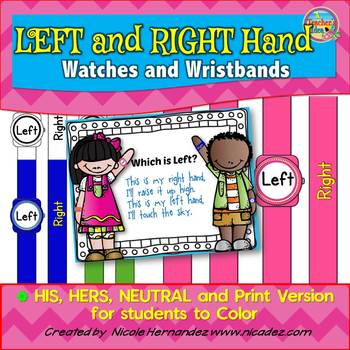 Left and Right Hand Orientation Watches and Wristbands