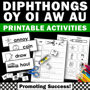 Vowel Diphthongs Ou Ow Oi Oy Phonics Worksheets For 1st 2nd